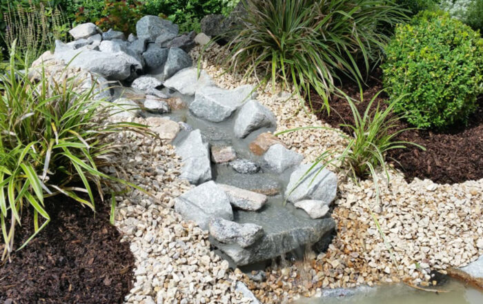 Gartenteich Wasserlauf